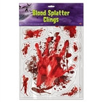 Create your own crime scene by decorating with the Blood Splatter Clings. Use the Blood Splatter Clings to decorate for Halloween or a CSI party.
