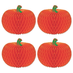 Art-Tissue Pumpkins, 4 in (4/pkg)