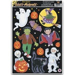 halloween character window clings 11sheet - Halloween Window Clings