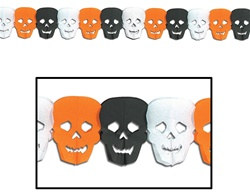 Halloween Skull Garland Decoration