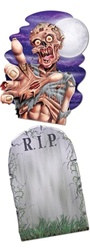 Jumbo Tombstone and Zombie Cutouts (2/pkg)