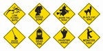 Halloween Road Sign Cutouts (4/Pkg)