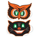 Owl and Cat Masks