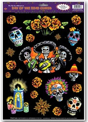 Day Of The Dead Window Clings