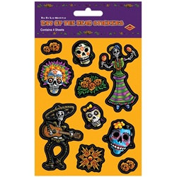 Day of the Dead Stickers (4 sheets/pkg)