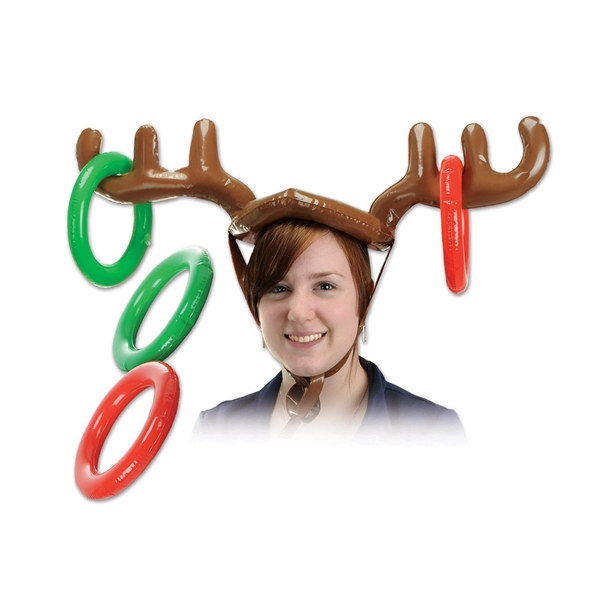 Inflatable Reindeer Ring Toss