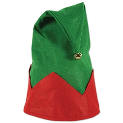 Looking for an easy way to get everyone in the Holiday Spirit?  Wear this fun Felt Elf Hat and you'll leave smiling faces and holiday fun in your wake.  Like the hat but not brave enough to wear it?  Hang it on the wall and pin your holiday cards on it.