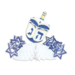 Add color and interest to your  table settings as you celebrate Hanukkah.  These classic centerpieces are completely assembled, printed two sides and measure 7.75 inches when open full round.  Reusable with care.