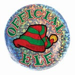 Official Elf Lazer Etched Button