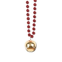 Red Beads with Jingle Bell (1/pkg)