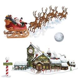 Santa's Sleigh and Workshop Props
