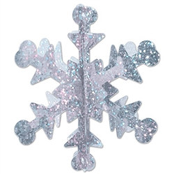3-D Mini Prismatic Snowflakes