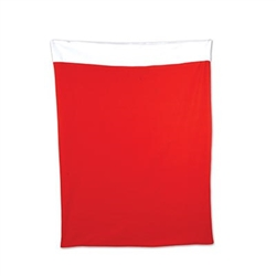 The Plush Santa Gift Sack is a necessary accessory to any Santa costume this holiday season! This extra large red fabric gift sack is trimmed in white felt and includes a drawstring. Generously sized 30.5 inches by 40 inches. 1 per package.