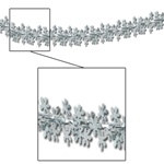 Metallic Snowflake Garland/Column