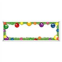 Blank Holiday Sign Banner