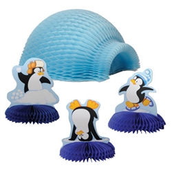 Igloo Centerpiece with Penguins