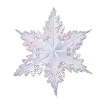 Opalescent Metallic Winter Snowflake