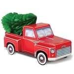Add a retro, vintage look to your Christmas arrangements with this classic 3-D Christmas Truck Centerpiece.