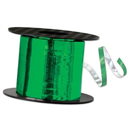 Emerald Green Metallic Curling Ribbon