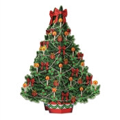 3-D Christmas Tree Centerpiece