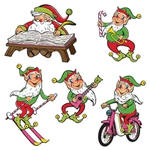 Make your Christmas merry with these Vintage Christmas Santa & Elves Cutouts.  Produced from never before released original art, they're sure to become a family favorite!  Each package contains five colorful cutouts.