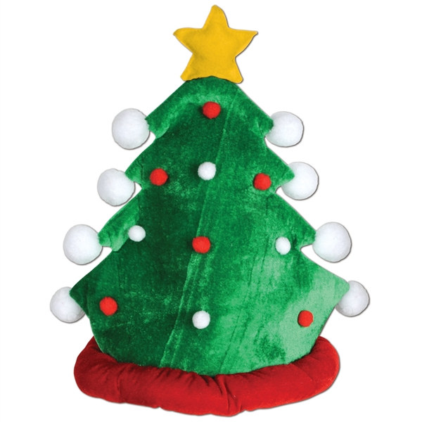 Plush Christmas Tree Hat Partycheap