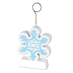 Snowflake Photo/Balloon Holder
