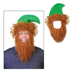 Take your St. Patrick's Day outfit up a notch with our Green Hat w/Beard. In seconds, you'll transform into the most classic Irish man in the group. Great for Halloween as well! This novelty hat cannot be returned because of hygiene-related concerns.