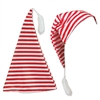 Our red and white striped Nightcap makes a great Christmas party hat. Made of polyester, and featuring a white yarn tassel, it is sized to fit most adults. Great costume prop for those Christmas party photos! Not eligible for returns.