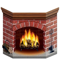 Cardstock Brick Fireplace Stand-Up
