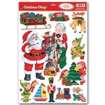 Santa Workshop Window Clings (11/sheet)