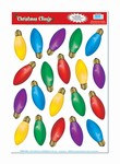 Christmas Light Bulb Window Clings (20/sheet)
