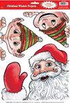 Santa and Elves Peeper Clings (3/sheet)