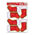 Christmas Stockings Peel 'N Place (6/Sheet)