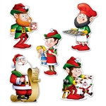 Mini Santa & Elves Cutouts (10 pcs/pkg)