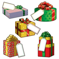 Mini Christmas Gift Cutouts (10 pcs/pkg)