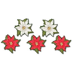 Mini Poinsettia Cutouts (10/pkg)