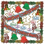 Merry Christmas Metallic Decorating Kit