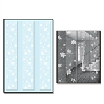 Our transparent Snowflake Party Panels are printed with snowflakes that appear to be floating to the ground. These 12 inch wide by 6 feet long panels come with hangtabs, making it simple to hang from your ceiling. Comes three panels per package.