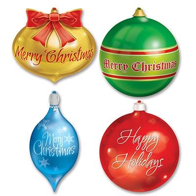 Christmas Ornament Cutouts 4 Pkg