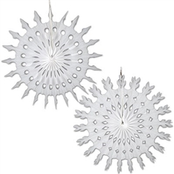 White Art-Tissue Snowflakes, 22 inches