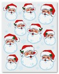 Santa Face Stickers (4 sheets/pkg)