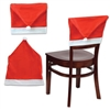 Use the Santa Hat Chair Cover to give your table setting a festive look. This red and white chair cover is made from a polyester felt fabric and measures approximately 18.5 inches by 25 inches. Contains one chair cover per package.