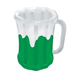 Inflatable Green Beer Mug Cooler