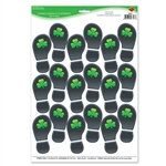 These footprints could lead to a pot of gold! The 1st step in catching a Leprechaun is seeing where they go.  Our Leprechaun footprints will lead the guests at your St. Patrick's party to an awesome celebration. Comes 9 left/right sets per sheet.