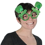 Glittered Leprechaun Hat Glasses