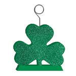 Glittered Shamrock Photo/Balloon Holder