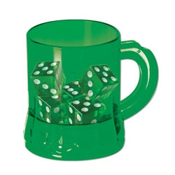 St Pat's Mug Shot with Dice