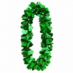 Flashy Foil Shamrock Lei