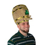 Plush Shamrock Beer Barrel Hat